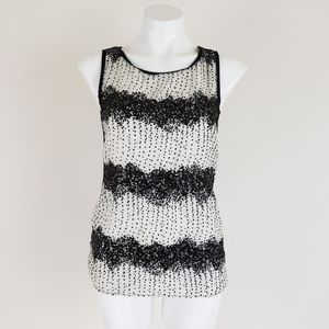 LOFT Spotted Sequin Shell, Size S